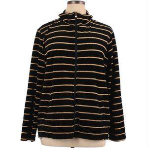 Onque gold & black velour Casuals Jacket 1X